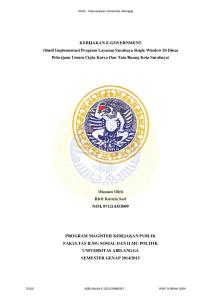 KEBIJAKAN E-GOVERNMENT (Studi Implementasi Program Layanan Surabaya Single Window Di Dinas Pekerjaan Umum Cipta Karya Dan Tata Ruang Kota Surabaya)
