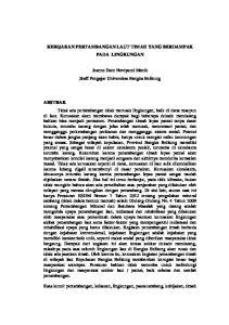 KEBIJAKAN PERTAMBANGAN LAUT TIMAH YANG BERDAMPAK PADA LINGKUNGAN. Jeanne Darc Noviyanti Manik Staff Pengajar Universitas Bangka Belitung