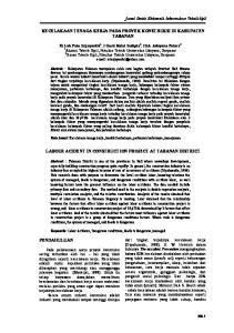 KECELAKAAN TENAGA KERJA PADA PROYEK KONSTRUKSI DI KABUPATEN TABANAN LABOUR ACIDENT IN CONSTRUCTION PROJECT AT TABANAN DISTRICT