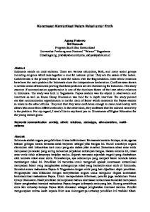 Kecemasan Komunikasi Dalam Relasi antar Etnik