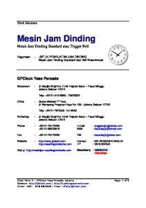Kegunaan : UNTUK PEMBUATAN JAM DINDING Mesin Jam Dinding Standard dan Bell Westminster
