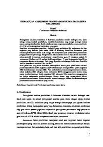 KEMAMPUAN ASSESSMENT PEMBELAJARAN KIMIA MAHASISWA CALON GURU. Abstrak