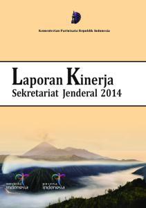 Kementerian Pariwisata Republik Indonesia. Laporan Kinerja