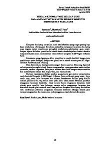 KENDALA-KENDALA YANG DIHADAPI GURU DALAMMEMANFAATKAN MEDIA BERBASIS KOMPUTER DI SD NEGERI 10 BANDA ACEH. Soewarno 1), Hasmiana 2), Faiza 3)