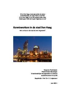 Kenniswerkers in de stad Den Haag
