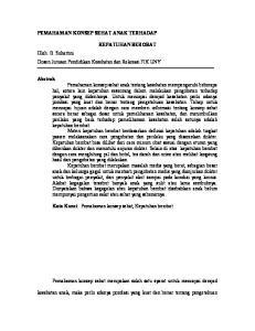 KEPATUHAN BEROBAT Oleh: B. Suhartini Dosen Jurusan Pendidikan Kesehatan dan Rekreasi FIK UNY