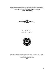 KEPEMIMPINAN PEREMPUAN DALAM ORGANISASI KEPOLISIAN (Kasus Kepolisian Resort Wonogiri, Kabupaten Wonogiri, Provinsi Jawa Tengah)