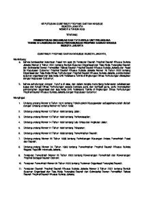 KEPUTUSAN GUBERNUR PROPINSI DAERAH KHUSUS IBUKOTA JAKARTA NOMOR 8 TAHUN 2003 TENTANG
