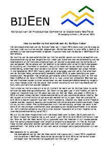 Kerkblad van de Protestantse Gemeente te Oosterbeek-Wolfheze 9 e jaargang nummer 1, 29 januari 2015
