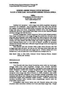 KERNEL ORDER TINGGI UNTUK ESTIMASI VALUE AT RISK (VaR) MANAJEMEN RESIKO TENAGA KERJA