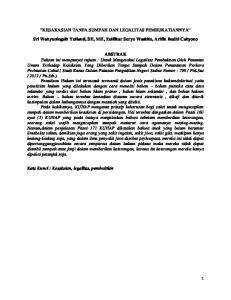 KESAKASIAN TANPA SUMPAH DAN LEGALITAS PEMBUKATIANNYA. Sri Wahyuningsih Yulianti, SH, MH, Zulfikar Suryo Waskito, Arifin Budhi Cahyono