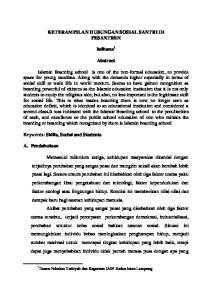 KETERAMPILAN HUBUNGAN SOSIAL SANTRI DI PESANTREN. Istihana 1. Abstract