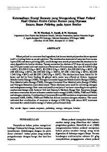 Ketersediaan Energi Ransum yang Mengandung Wheat Pollard Hasil Olahan Enzim Cairan Rumen yang Diproses Secara Steam Pelleting pada Ayam Broiler