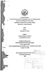 Ketua : Erniwati, SS, M.Hum. Anggota : Mira Hasti Hasmira, SH, M.Si Erda Fitriani, S.Sos, M.Si. Penelitian ini dibiayai oleh :