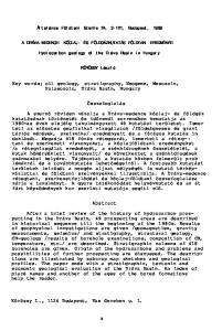 Key words; oil geology, stratigraphy, Neogene, Mesozoic, Palaeozoic, Dráva Basin, Hungary. Összefoglalás