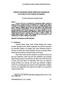 Keywords: Risk Management and Murabahah finance
