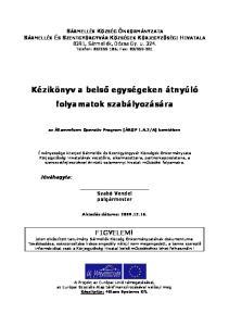Kézikönyv a belső egységeken átnyúló folyamatok szabályozására