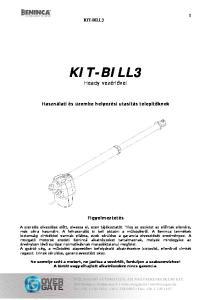 KIT-BILL3 Heady vezérlővel