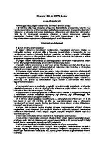 Kivonat a évi XXXVII. törvény. a polgári védelemről