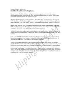 kliping ELSAM Kompas, Jumat 05 Januari 2007 Ratifikasi Tidak Jamin Keberpihakan