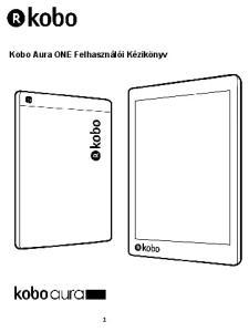 Kobo Aura ONE Felhasználói Kézikönyv