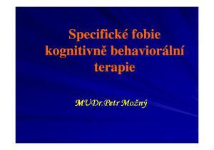 kognitivně behaviorální MUDr.Petr Možný