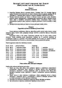 ŠKOLSKÝ VNÚTORNÝ PORIADOK PRE ŽIAKOV ZŠsMŠ, Považská Teplá 181, Považská Bystrica