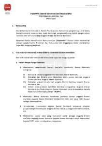 Komite Nominasi dan Remunerasi mempunyai tugas dan tanggung jawab: