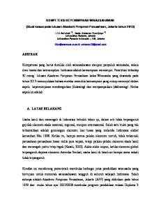 KOMPETENSI KEPEMIMPINAN WIRAUSAHAWAN. (Studi kasus pada lulusan Akademi Pimpinan Perusahaan, Jakarta tahun 2013)