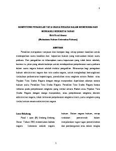 KOMPETENSI PERADILAN TATA USAHA NEGARA DALAM MEMERIKSA DAN MENGADILI SENGKETA TANAH Oleh Herul Anwar (Mahasiswa Hukum Universitas Pakuan)