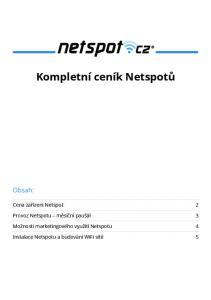 Kompletní ceník Netspotů