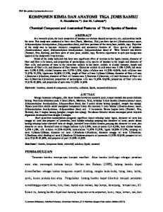 KOMPONEN KIMIA DAN ANATOMI TIGA JENIS BAMBU E. Manuhuwa *) dan M. Loiwatu*)