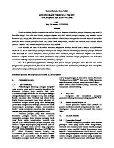 KONFIGURASI FIREWALL POLICY MICROSOFT ISA SERVER 2006