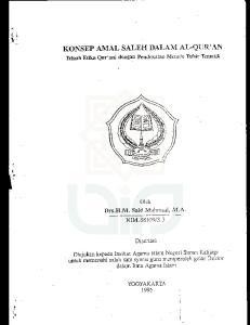 KONSEP AMAL SALEH DALAIVI AL-QUR'AN.-.: