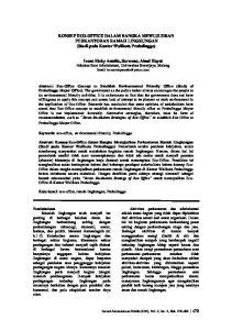 KONSEP ECO-OFFICE DALAM RANGKA MEWUJUDKAN PERKANTORAN RAMAH LINGKUNGAN (Studi pada Kantor Walikota Probolinggo)