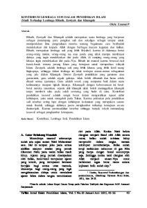 KONTRIBUSI LEMBAGA SUFI DALAM PENDIDIKAN ISLAM (Studi Terhadap Lembaga Ribath, Zawiyah dan Khanqah) Oleh: Emroni
