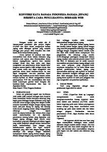 KONVERSI KATA BAHASA INDONESIA-BAHASA JEPANG BESERTA CARA PENULISANNYA BERBASIS WEB