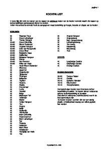 KOOIENLIJST. pagina 1