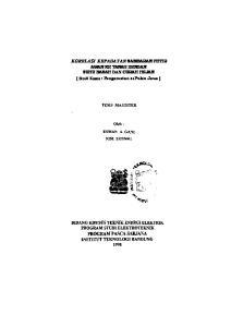 KORELASI KEPADATAN SAMBARAN PETIR. AWAN KE TANAH DENGAN SUHU BASAH DAN CURAH HUJAN ( Studi Kasus : Pengamatan di Pulau Jawa )