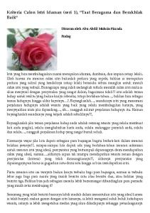 Kriteria Calon Istri Idaman (seri 1),