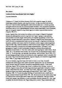 KRITIKA június, 24. oldal. Veres András Irodalomtörténeti beavat(koz)ás Rejtő Jenő világába* A ponyva klasszikusa