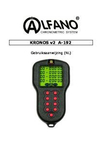 KRONOS v2 A-192. Gebruiksaanwijzing (NL)