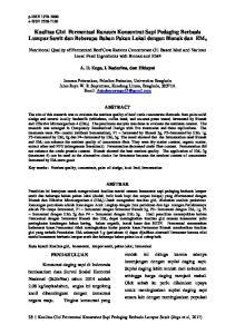 Kualitas Gizi Fermentasi Ransum Konsentrat Sapi Pedaging Berbasis Lumpur Sawit dan Beberapa Bahan Pakan Lokal dengan Bionak dan EM 4