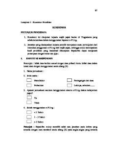 KUESIONER. 3. Apakah perusahaan saudara menggunakan sistem e-filing dalam melaporkan pajak?