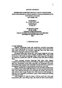 KULIAH LAPANGAN. Pembimbing I Dr. Ir. Ismed Inonu, M.Si. Pembimbing II Purbaya, SP