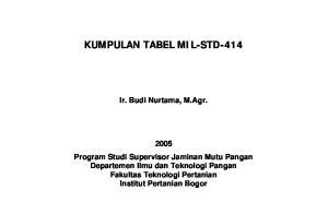 KUMPULAN TABEL MIL-STD-414
