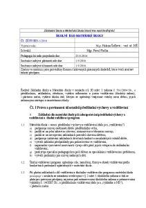 Čl. I Práva a povinností účastníků předškolní výchovy a vzdělávání
