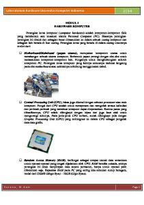 Laboratorium Hardware Universitas Komputer Indonesia 2014
