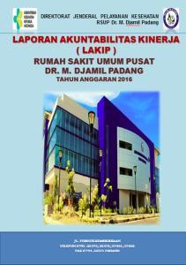 LAKIP Tahun 2016 RSUP Dr.M.Djamil Padang