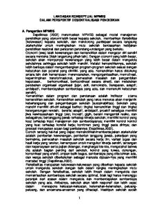 LANDASAN KONSEPTUAL MPMBS DALAM PERSPEKTIF DESENTRALISASI PENDIDIKAN